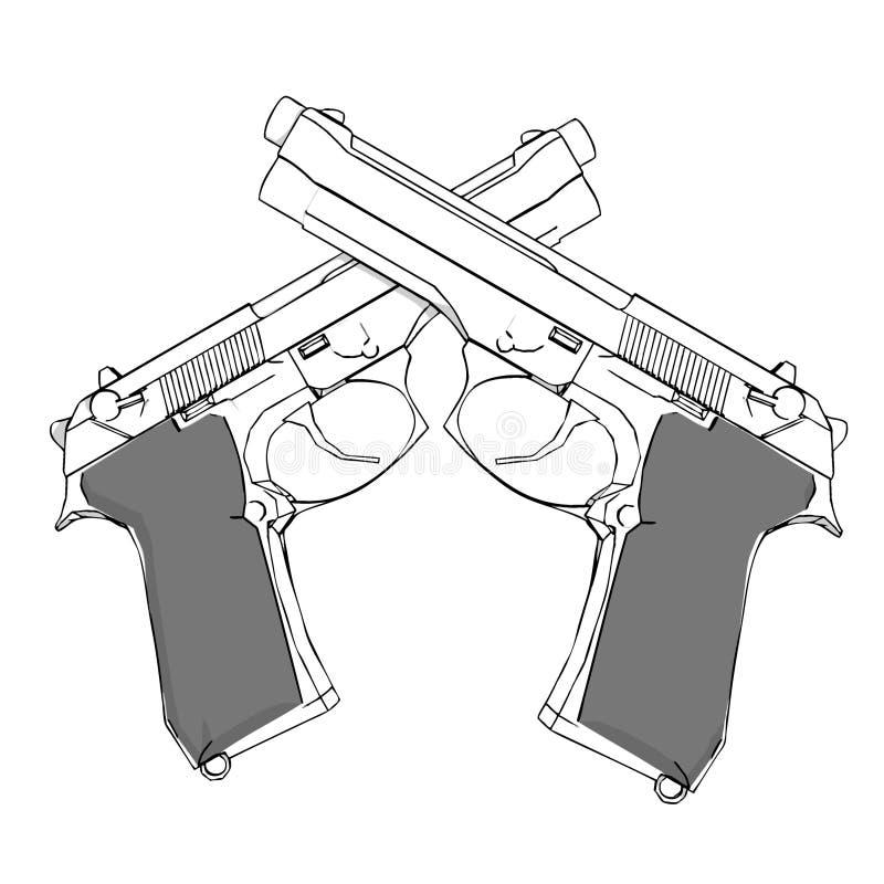 trycksprutor stock illustrationer