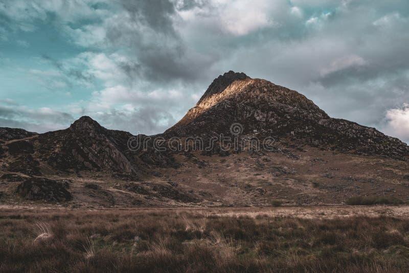Tryfan峰顶在北部威尔士 库存图片