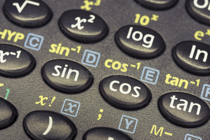 Trygonometrii matematyka obrazy royalty free