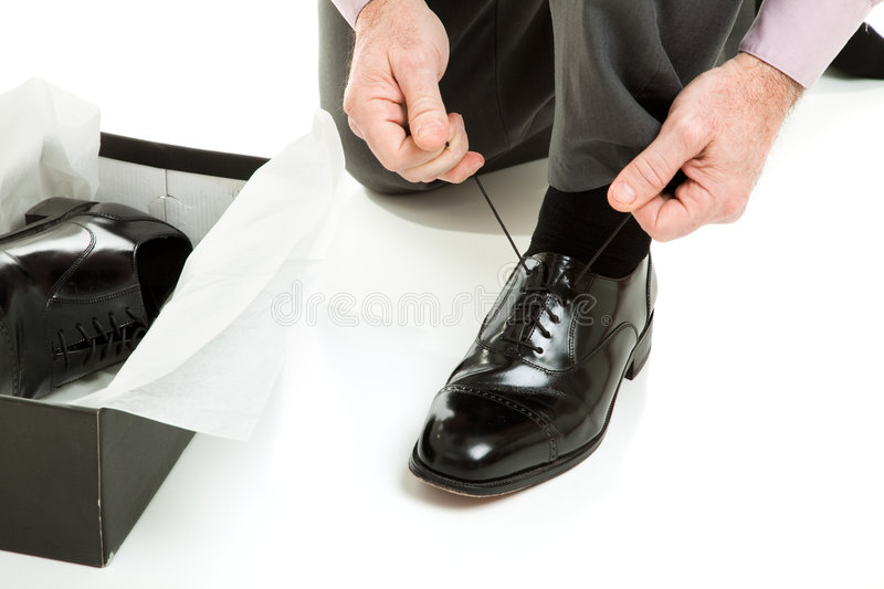 Download Trying On New Shoes Stock Photos - Image: 9011333