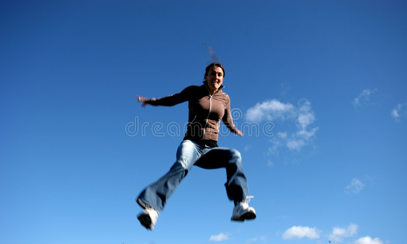Trying to fly stock image