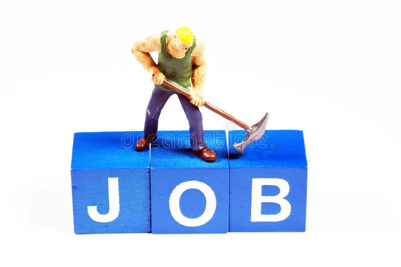 Trying to get a better job stock photo