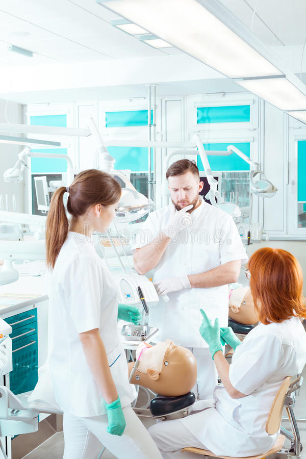 Trying to memorise the stages of cavity treatment stock photography