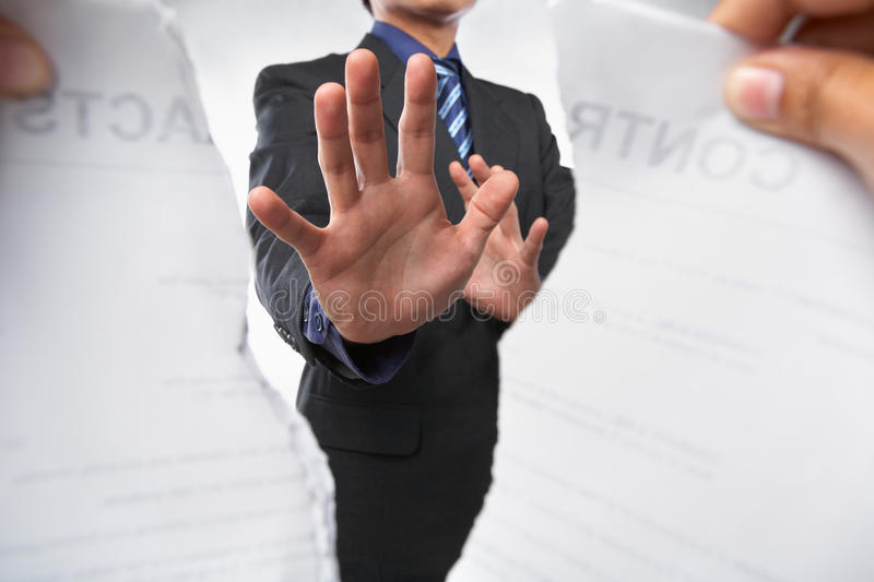 Download Trying To Prevent Ripping The Contract Stock Image - Image: 14681349