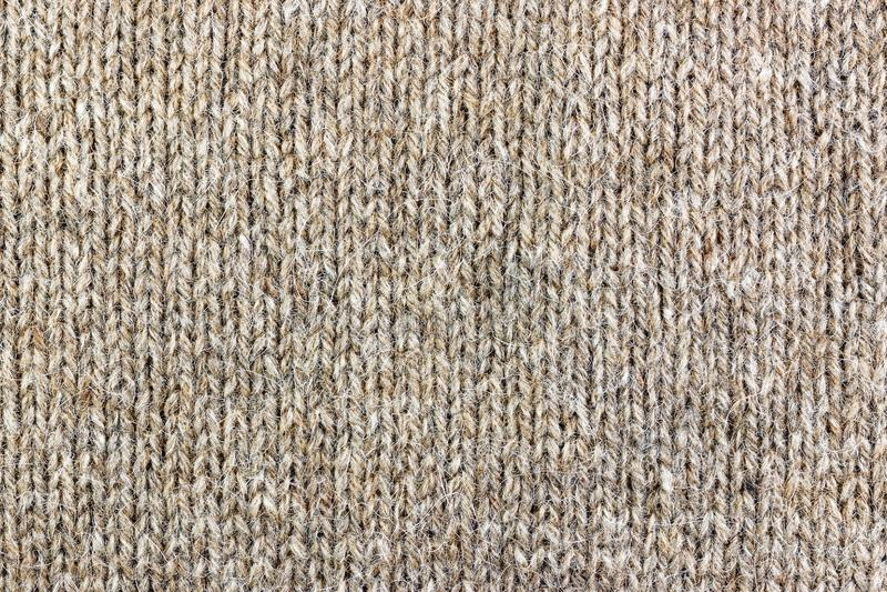 Trykotowa tekstura lama wełny zbliżenie Naturalny wełny tkaniny tło zdjęcie royalty free