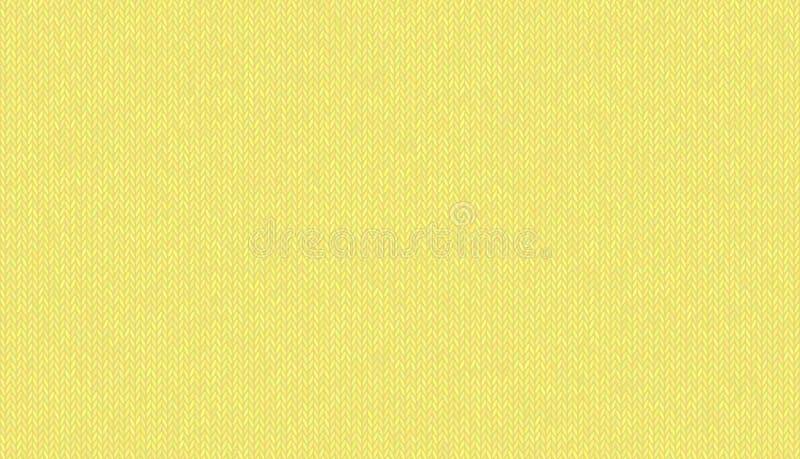 Trykotowa wełny melange tekstura, zaświeca niemego odcień kolor żółty w wektorowym tle ilustracji