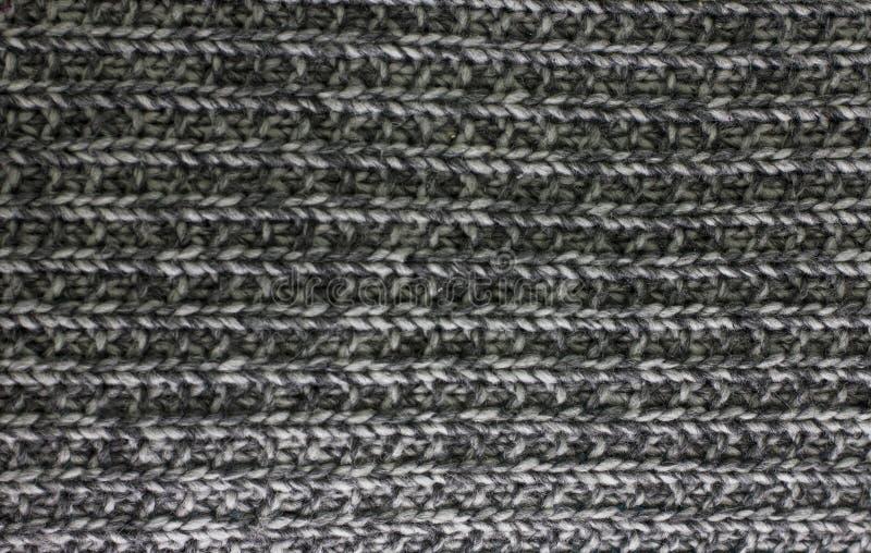 Trykotowego szkockiej kraty powszechnego czerni melange tekstury popielaty tło zdjęcia royalty free