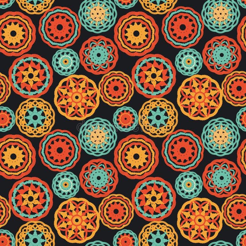 trykotowi crochet dywaniki ilustracji