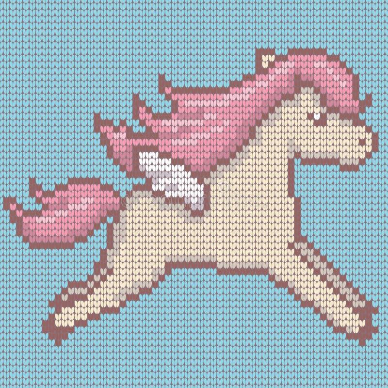 Trykotowy śliczny kawaii styl Pegasus również zwrócić corel ilustracji wektora ilustracja wektor