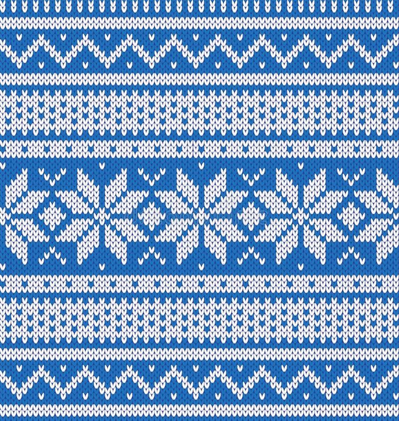 Trykotowy błękitny bydło z bielu wzorem royalty ilustracja