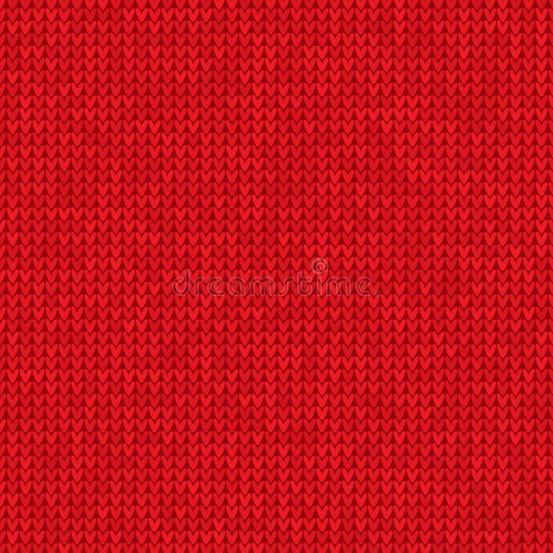 Trykotowy czerwony tło royalty ilustracja