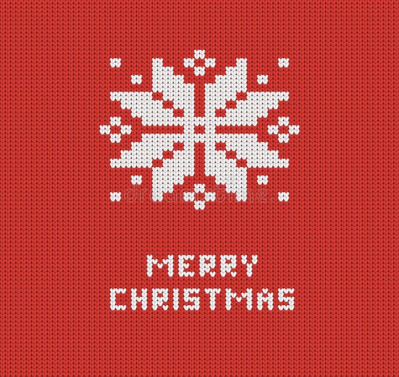 Trykotowy czerwony Wesoło bożych narodzeń kartka z pozdrowieniami ilustracji