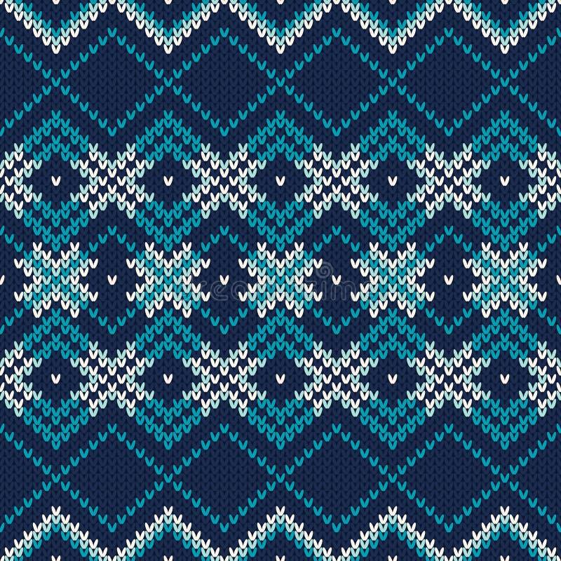 trykotowy deseniowy bezszwowy Świąteczny i Modny puloweru projekt royalty ilustracja