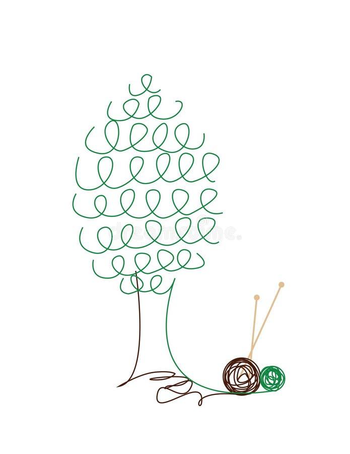 trykotowy drzewo ilustracja wektor