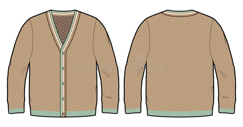 Trykotowy kardigan ilustracja wektor