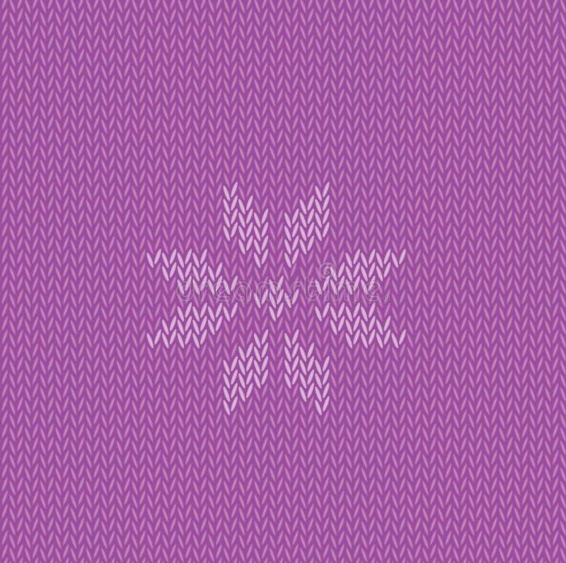 Trykotowy ornamentacyjny płatek śniegu royalty ilustracja
