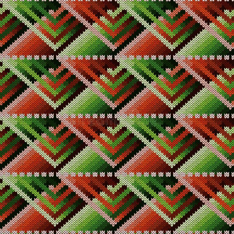 Trykotowy ozdobny bezszwowy abstrakta wzór ilustracja wektor