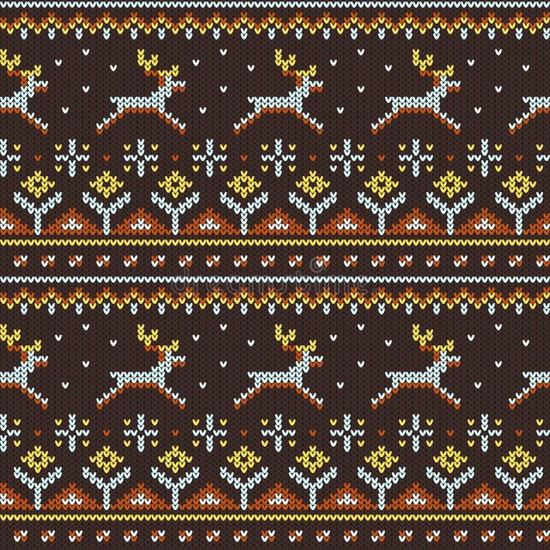 Trykotowy puloweru wzór royalty ilustracja