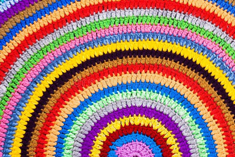 Trykotowy round dywan lub dywanik fotografia royalty free