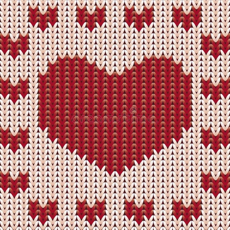 Trykotowy serce, valentines dnia karta ilustracji