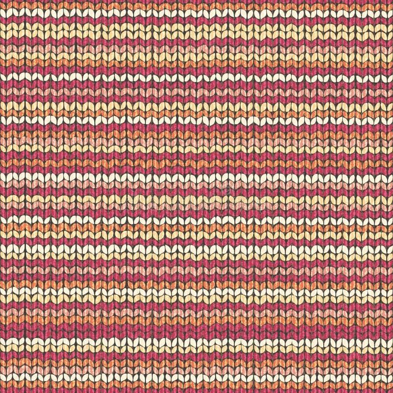 Trykotowy tkaniny wełny tekstury projekt royalty ilustracja