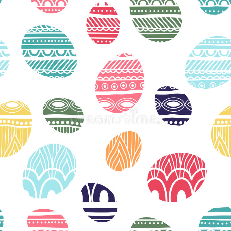 Trykotowy Wielkanocnych jajek tło również zwrócić corel ilustracji wektora zdjęcie royalty free