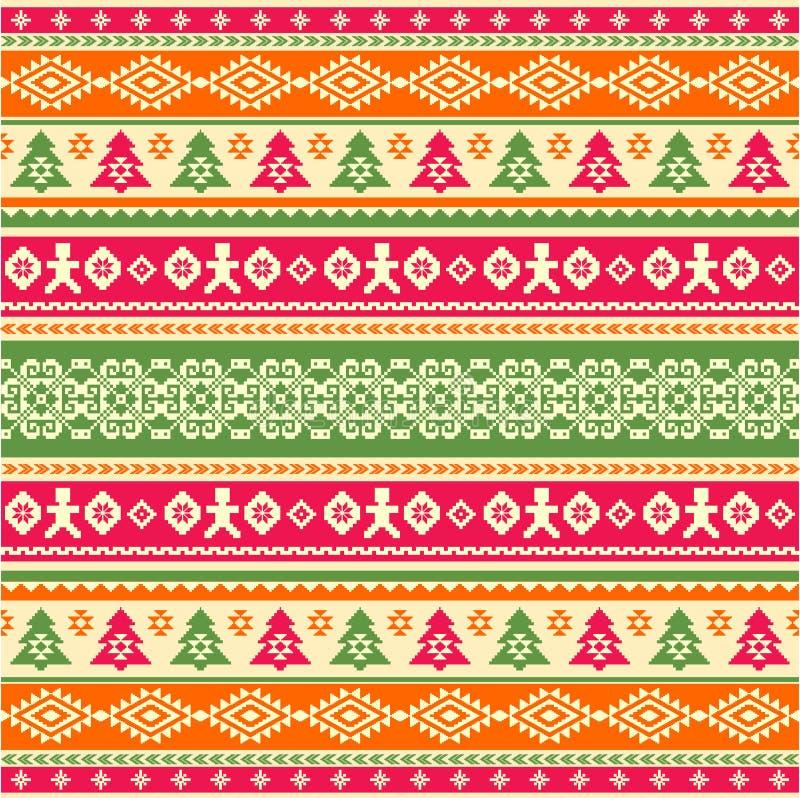 Trykotowy wzór w etnicznym stylu ilustracja wektor