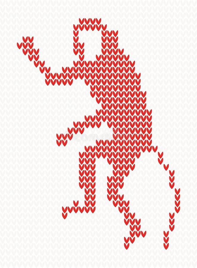Trykotowy wzór z małpą ilustracji
