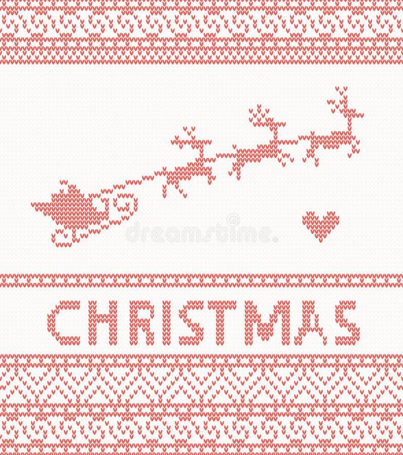 Trykotowy wzór z Santa Claus ilustracja wektor