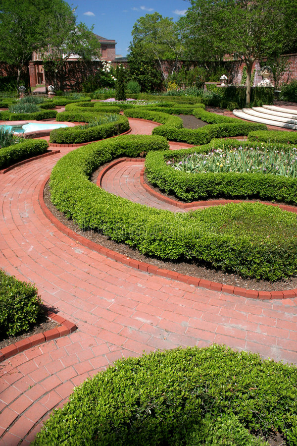 Tryon Palace Garden stock photo