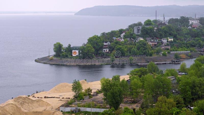 Trypillya-Dorf, Ukraine stockfoto