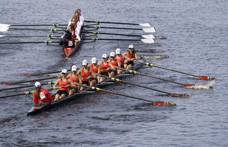 Trys Del Rowing De La Comunidad 56) (para Alcanzar Hingham Fotografía editorial