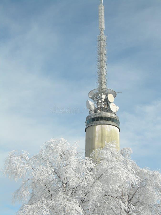 Tryvannstårnet em Oslo imagem de stock royalty free