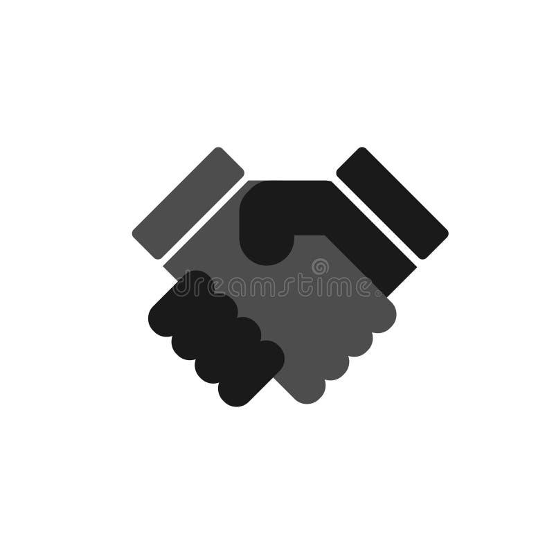 Trząść ręka uścisk dłoni - ikona royalty ilustracja