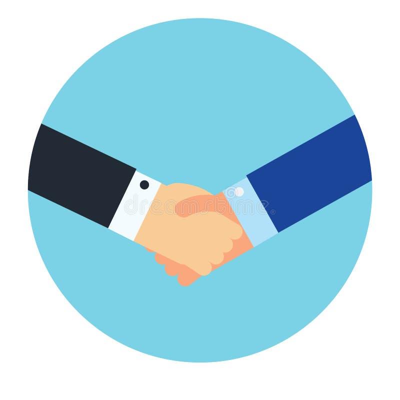 Trząść ręki biznesową wektorową ilustrację, ilustracji