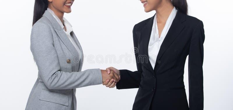 Trząść ręki najpierw spotyka sukces transakcji biznes obraz stock