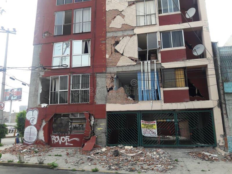 Trzęsienia ziemi df México Meksyk Richter skala zdjęcia stock