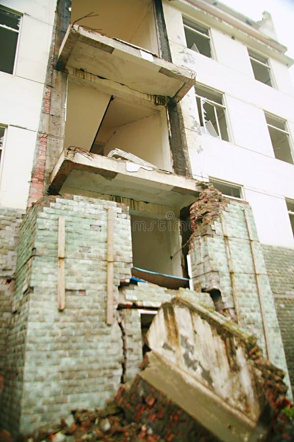 Trzęsienia ziemi miejsce w Xuan Kou szkole średniej zdjęcia royalty free