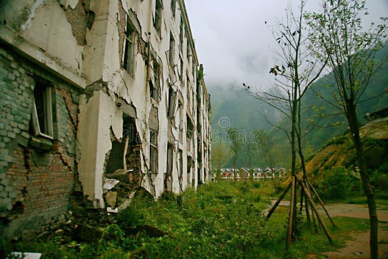 Trzęsienia ziemi miejsce w Xuan Kou szkole średniej obrazy stock