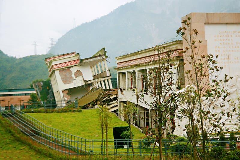 Trzęsienia ziemi miejsce w Xuan Kou szkole średniej fotografia royalty free