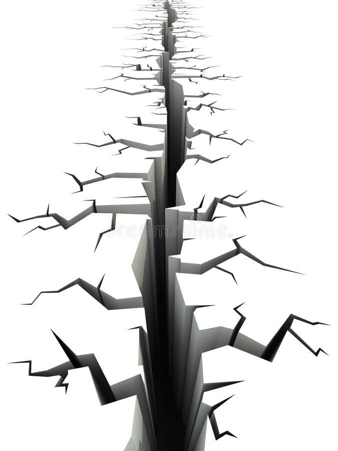 Trzęsienia ziemi ziemi pęknięcie ilustracja wektor
