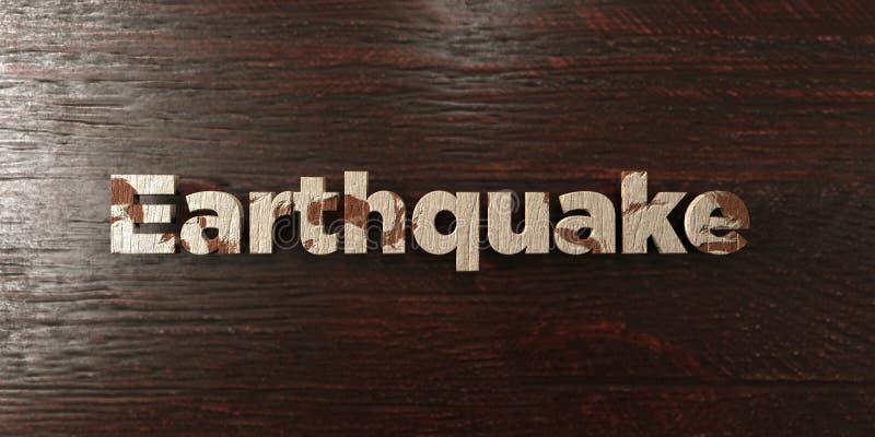Trzęsienie ziemi - grungy drewniany nagłówek na klonie - 3D odpłacający się królewskość bezpłatny akcyjny wizerunek ilustracji
