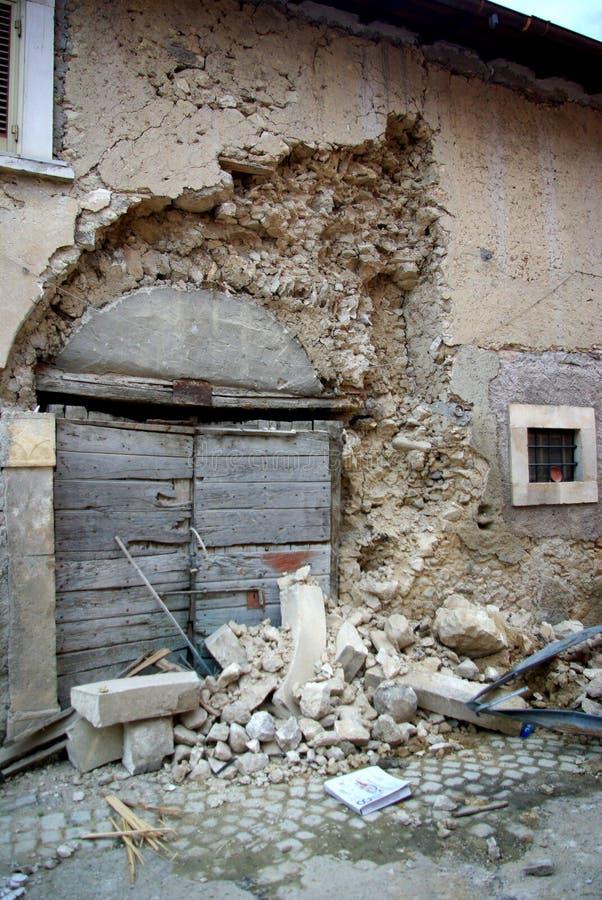 trzęsienie ziemi Italy obraz royalty free