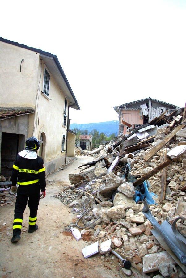 trzęsienie ziemi Italy zdjęcia stock