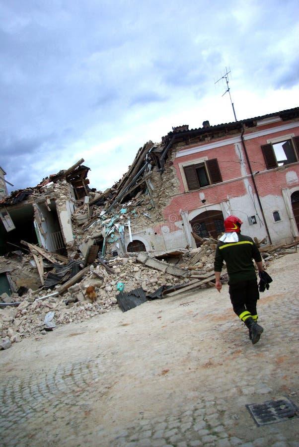 trzęsienie ziemi Italy obrazy royalty free