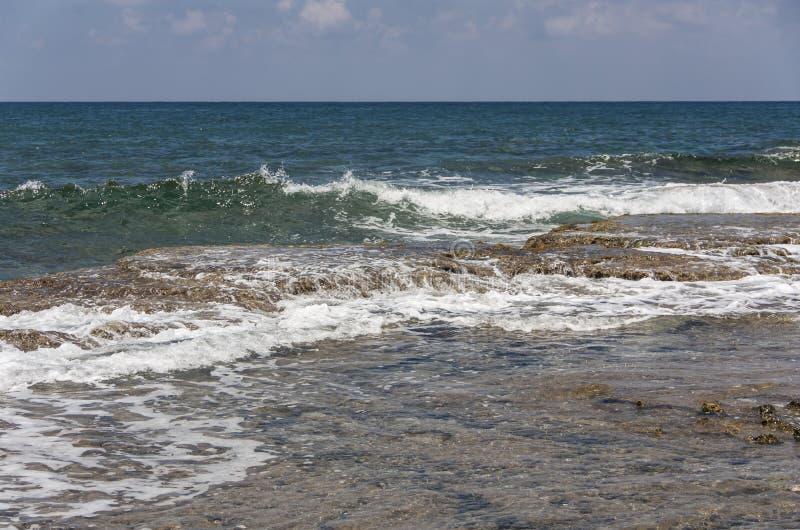 trzasków ciężkiego morza fala obraz royalty free