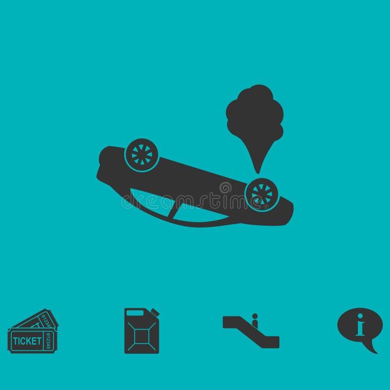 Trzask ikony samochodowy mieszkanie royalty ilustracja