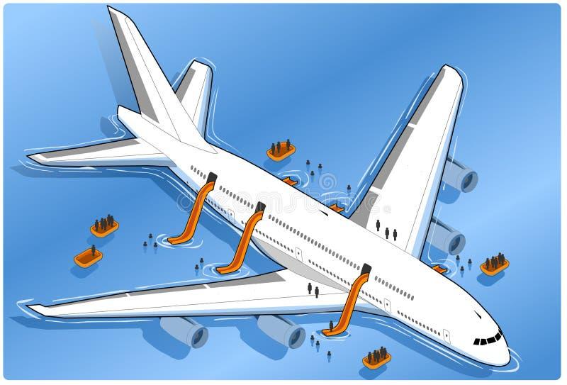 trzask porzucający samolot ilustracja wektor