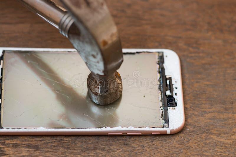 Trzaska telefon komórkowy obraz stock