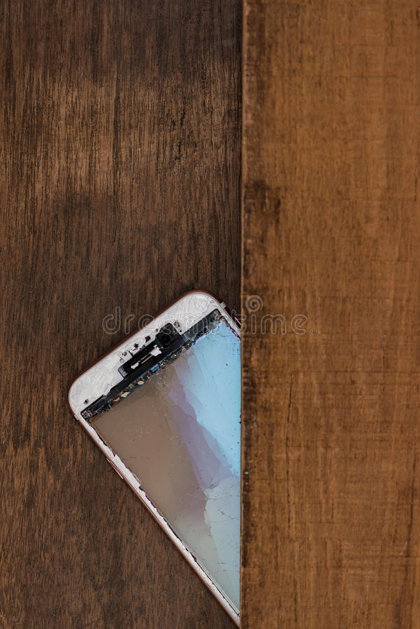 Trzaska telefon komórkowy zdjęcie stock